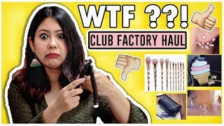 ✅CLUB FACTORY HAUL | OMG So Weird 😱| Online Shopping India |ThatQuirkyMiss