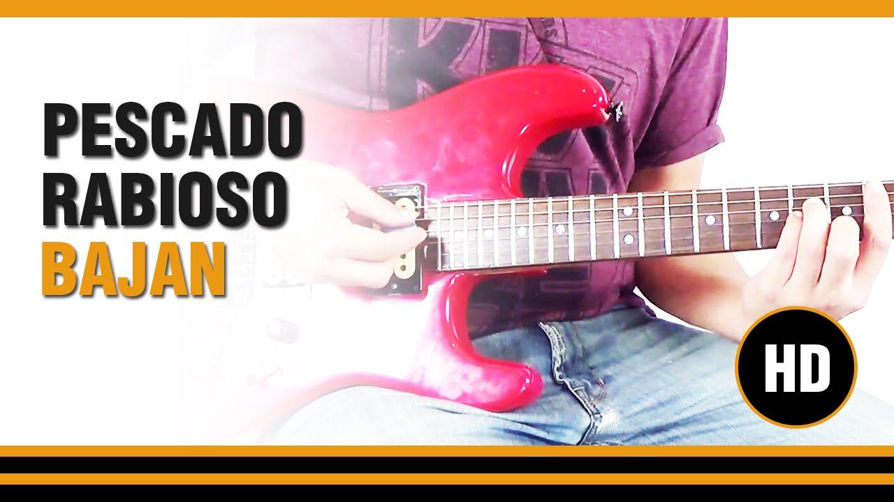 Como tocar Bajan de Pescado Rabioso en Guitarra electrica CLASE ...