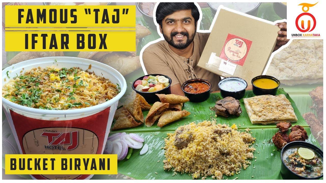 Biggest Iftar Box from Chichabas Taj | Tasty Mutton Haleem | Kannada Food Review