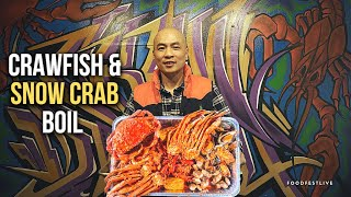 CRAWFISH & SNOW CRAB BOIL (Must Try) + Restaurant Owner's Story For Survival (Bay Area Food Guide)