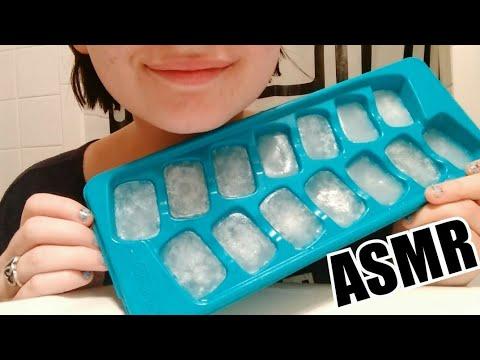 ❄️EATING CARBONATED ICE CUBES❄️ - Ice Eating ASMR - | Soft Crunches |