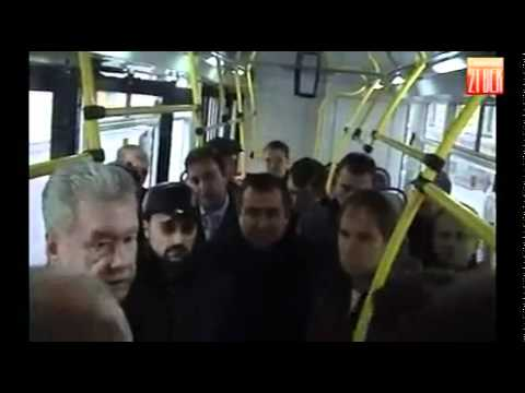 Electric bus produced by MOBEL was introduced to the Mayor of Moscow Sergey Sobyanin