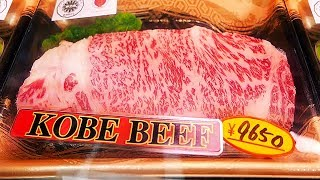 Japanese Street Food KOBE BEEF A5 Steak Teppanyaki Osaka Japan