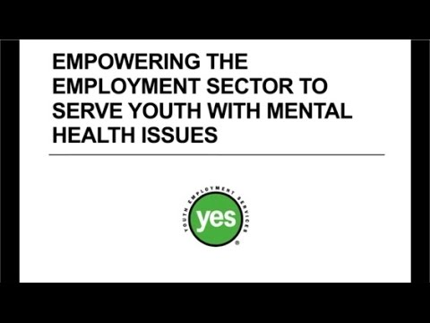 Webinar: Empowering The Employment Sector To Serve Youth With Mental Health Issues
