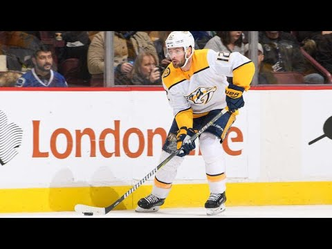 Mike Fisher scores in his first game back with the Nashville Predators (2018)
