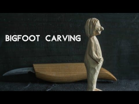 Carving a Wooden Bigfoot - Easy Wood Carving Ideas
