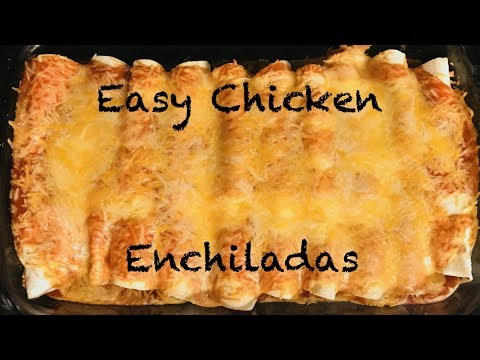 Easy Chicken Enchiladas Recipe | Cook With Me | Vlogmas Day 12
