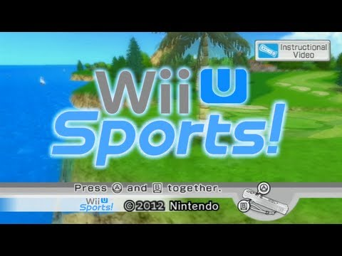how to play wii sports on wii u