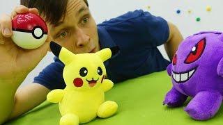 Pokemon Go: Пикачу против Монстра. Видео с покемонами