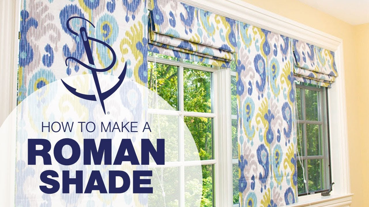 Diy Roman Shades Easy How To Make A Roman Shade