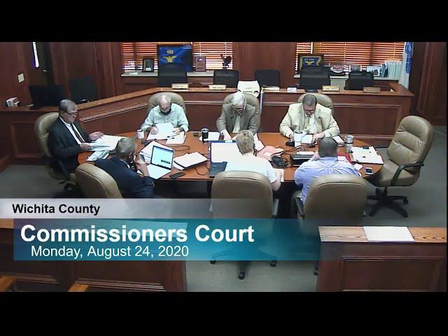 Commissioners Court 08/24/2020 part 2