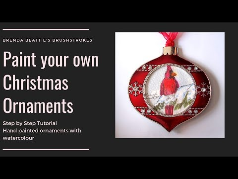 Paint Your Own Christmas Ornaments Long Version