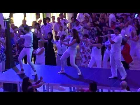 Harmony of The Seas Cruise Ship White Party - White Party Royal Promenade Harmony