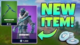 NEW SNOWFOOT SKIN AND INVERTED BLADE PICKAXE GAMEPLAY / Fortnite Battle Royale Live / 300+ Wins