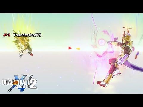 Golden Duel! SSJ3 Thundershot vs Golden Frieza Rhymestyle   Dragon Ball Xenoverse 2 Random Battles