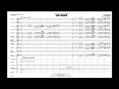 Sir Duke by Stevie Wonder/arr. Jay Bocook