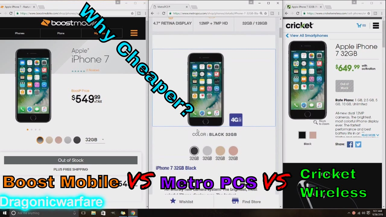 boost mobile phones iphone why the iphone 7 and 7 plus is cheaper on boost mobile vs 3106