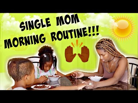 REAL LIFE SINGLE MOM MORNING ROUTINE 2018 ☀️ (ONE OF MANY) | LACY