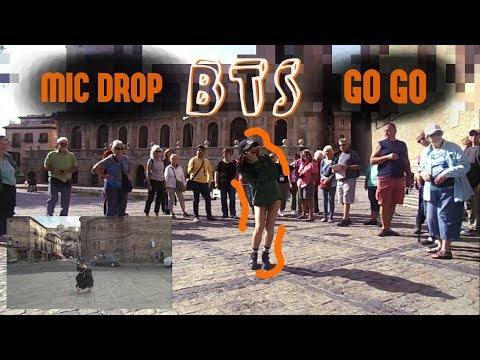 [Dance in public] BTS (방탄소년단) - GO GO + MIC DROP // They danced with me?