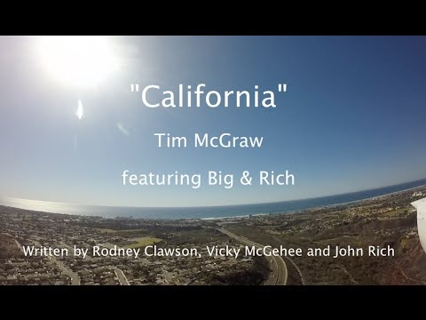 """California"" - Tim McGraw Lyric Video - Flight from Oceanside to KONT Ontario (Runway 8 Right)"