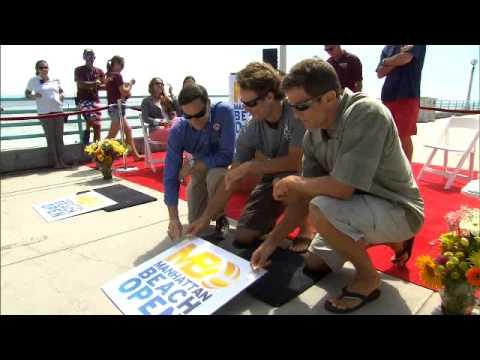 The Manhattan Beach Open Pier Plaque Ceremony ft. Hyden/Scott and Kropp/Pavlik