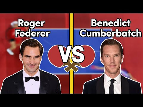 Roger Federer and Benedict Cumberbatch the morning after the Laureus Awards