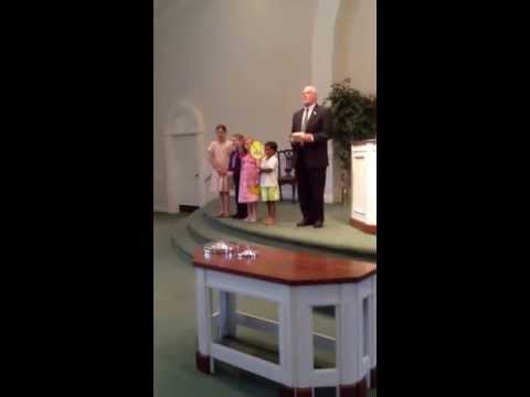 Wednesday Night Bible Class Presents Check to Missionary from India