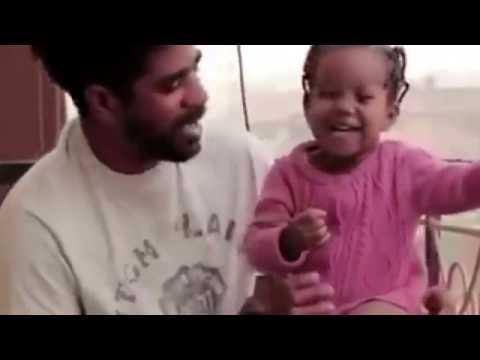 BBNaija Thin Tall Tall Tony playing with his beautiful daughter
