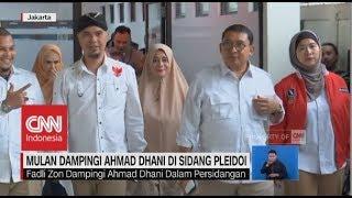 Mulan & Fadli Zon Dampingi Ahmad Dhani ke Persidangan