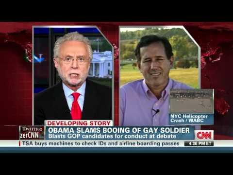 Download Santorum: I didn't hear the boos