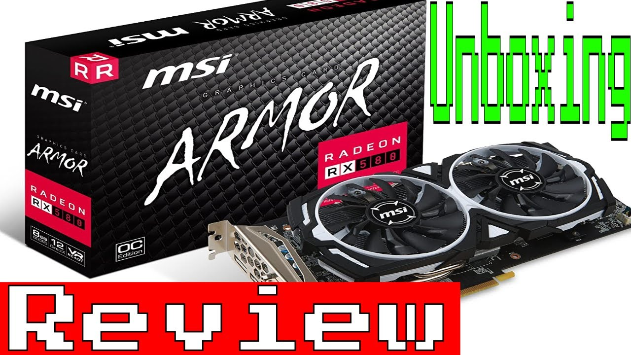 msi vga graphic cards rx 580 armor 8g oc  youtube