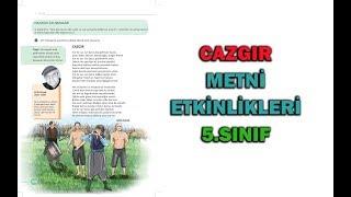Cazgır Şiiri Metni Etkinlikleri ve Cevapları 5.Sınıf