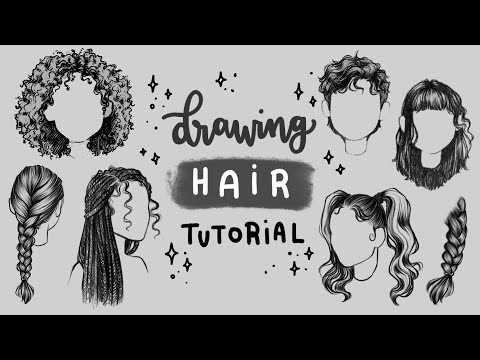 how-to-draw-hair-|-tutorial