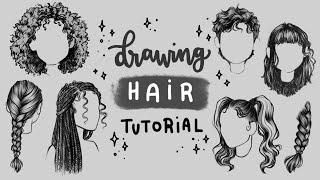 How To Draw Hąir | Tutorial