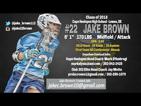 Jake Brown 2016 Highlights, Cape Henlopen High School