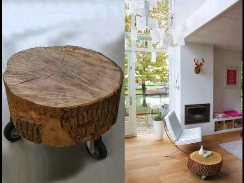 Mesas hechas de troncos youtube for Mesas hechas con puertas antiguas