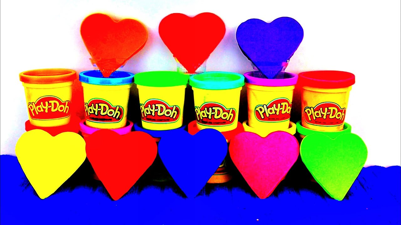 Happy Valentines Day Play Doh Hearts Thomas And Friends Peppa Pig Cars 2 Kinder Surprise Eggs Youtube