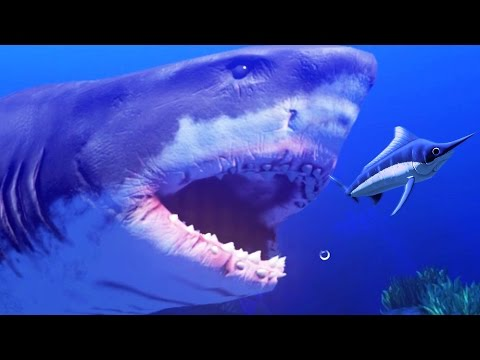 NEW GREAT WHITE SHARK LEVEL 200 - Feed and Grow Fish - Part