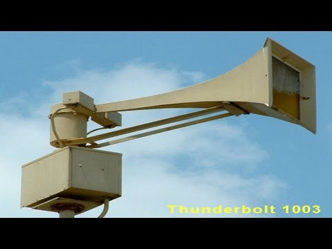 Warning Siren - Federal Signal Thunderbolt - Demonstrating 4 Signals ( HD Rescale )