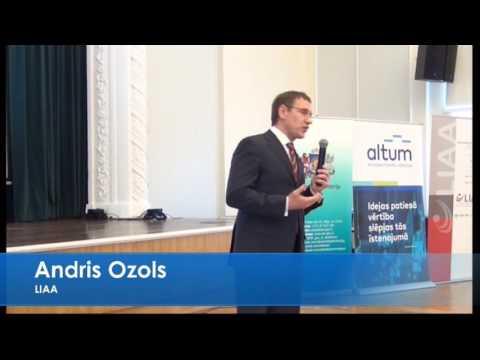 Latvijas Investīciju un attīstības aģentūras direktora A.Ozola uzruna forumā Atbalsts uzņēmējiem