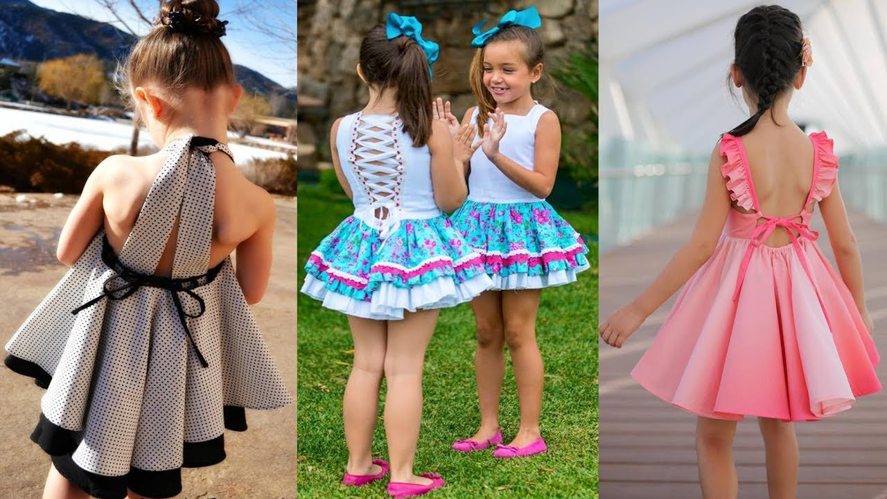 [VIDEO] - Latest Beautiful Western Dresses For Kids || Modern Outfits for baby girls 2019 3