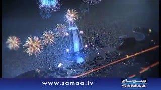 New year Fire works in Burj Khalifa - News package - 31 Dec 2015