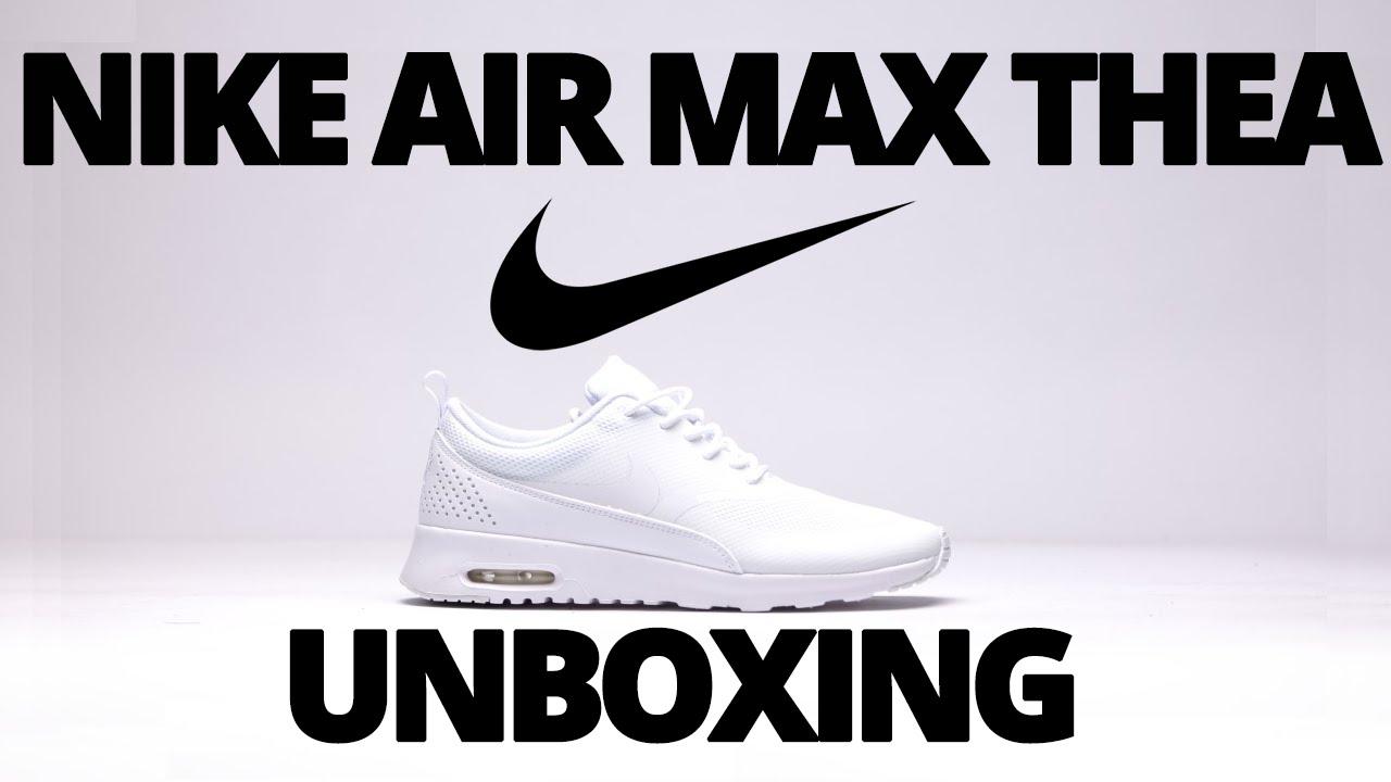 38968b506f3f 🔥👌2015  Nike Air Max Thea  White - Womens- Unboxing - YouTube