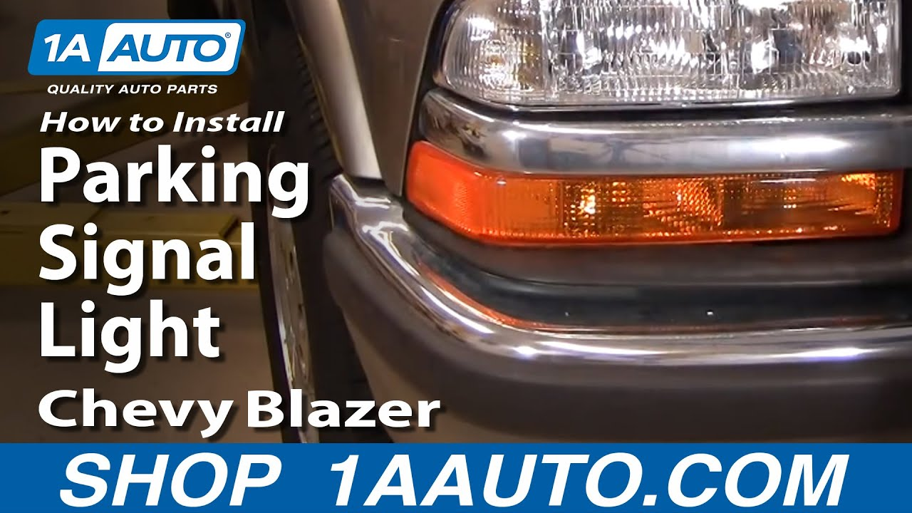 How To Install Replace Parking Signal Light Chevy S10 Blazer 98-05 ...
