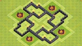 Epic Town Hall 5 (th5) Trophy/clan War Base - Clash Of Clans