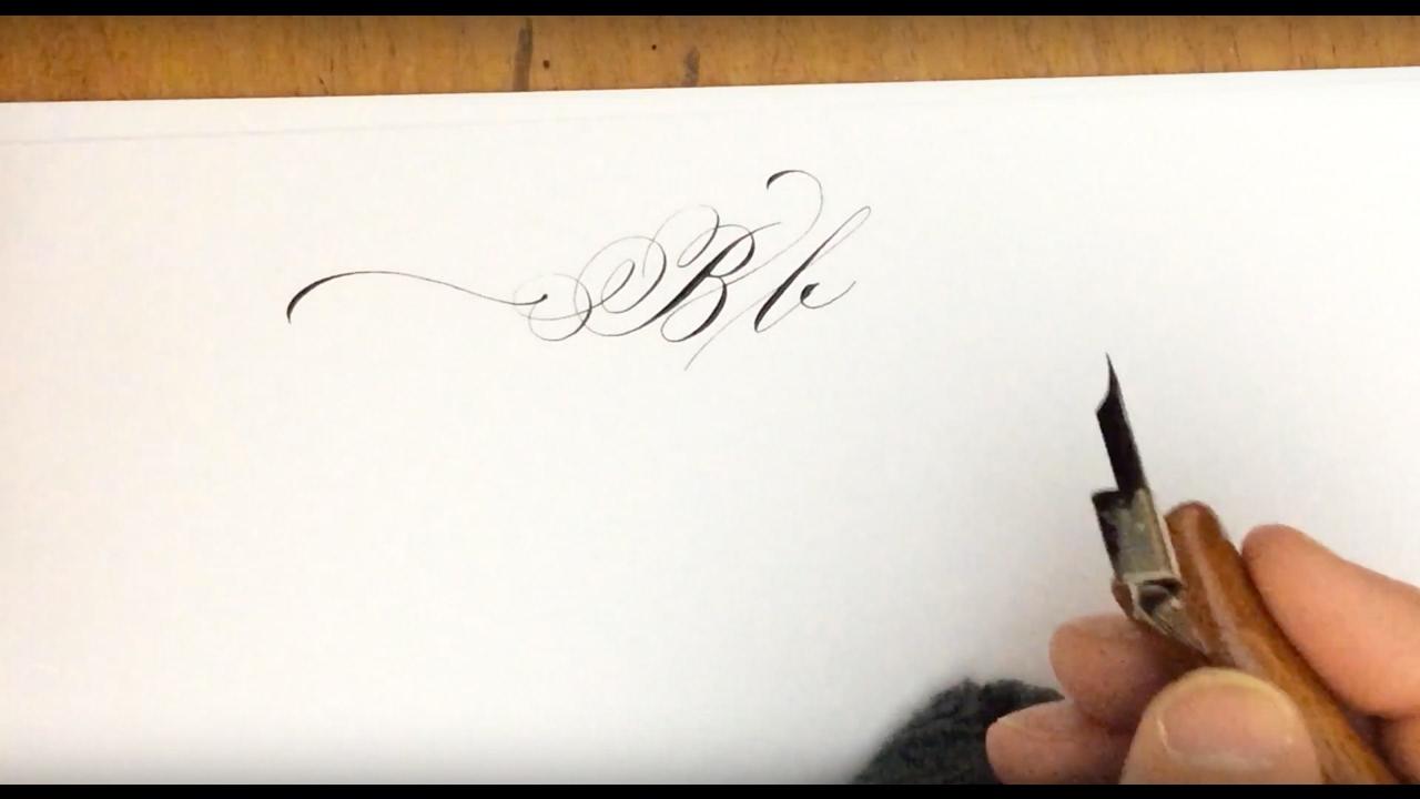 calligraphy lowercase b - 1280×720