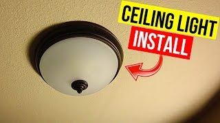 How To Install Ceiling Mount Light Fixture -Jonny DIY