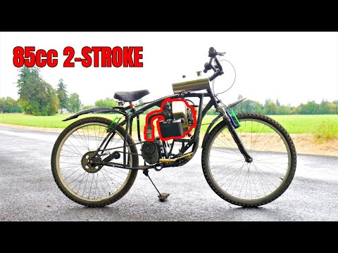 Ugly Homemade 2-stroke motorized bike (with suicide shifter)
