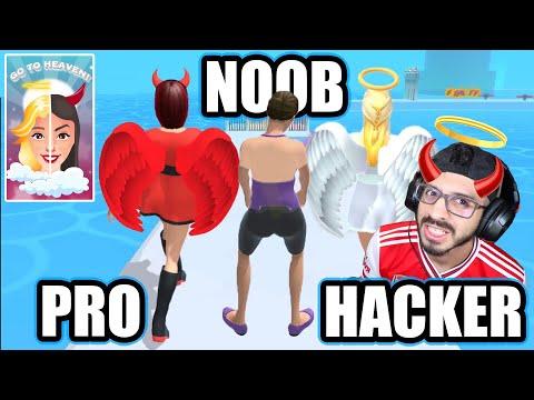 NOOB vs PRO vs HACKER en Go To Heaven! | Max Level Go To Heaven | Juegos Luky