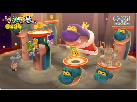 Super Mario 3D World: World 4 Boss Gameplay- NY Comic Con 2013
